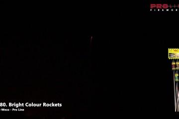 5680 – Bright Colour Rockets – Bestelvuurwerk.nl