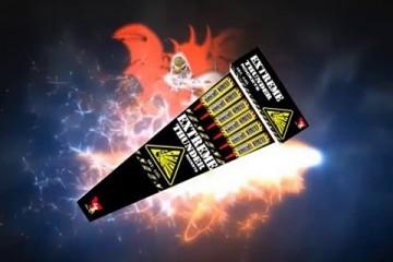 Extreme Thunder Rockets – China Red – vuurwerk met inhoud