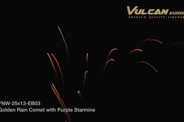 FNW-25×13-EB03 Golden Rain Comet with Purple Starmine
