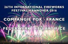Int. Fireworks Festival Hannover 2016: Compangie Pok – France – Feu Artifice