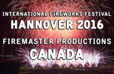 Int. Fireworks Festival Hannover 2016: Firemaster Productions – Canada – Feuerwerk – Feu d'artifice
